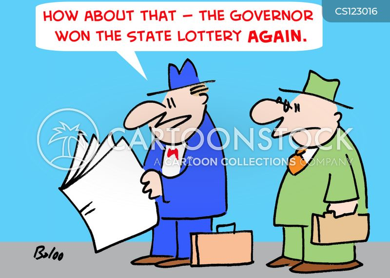 state lottery cartoon