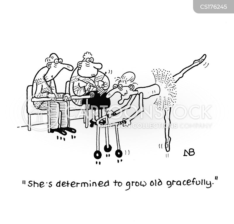 gracefully cartoon