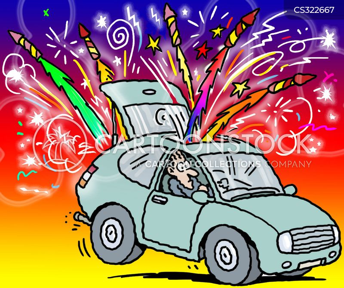 sparklers cartoon