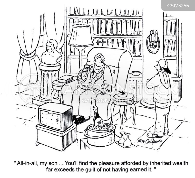 inherited money cartoon