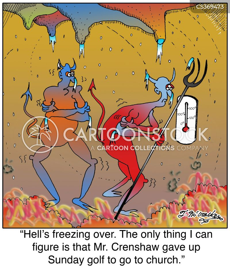 when hell freezes over cartoon