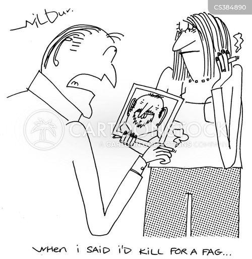 hired killer cartoon