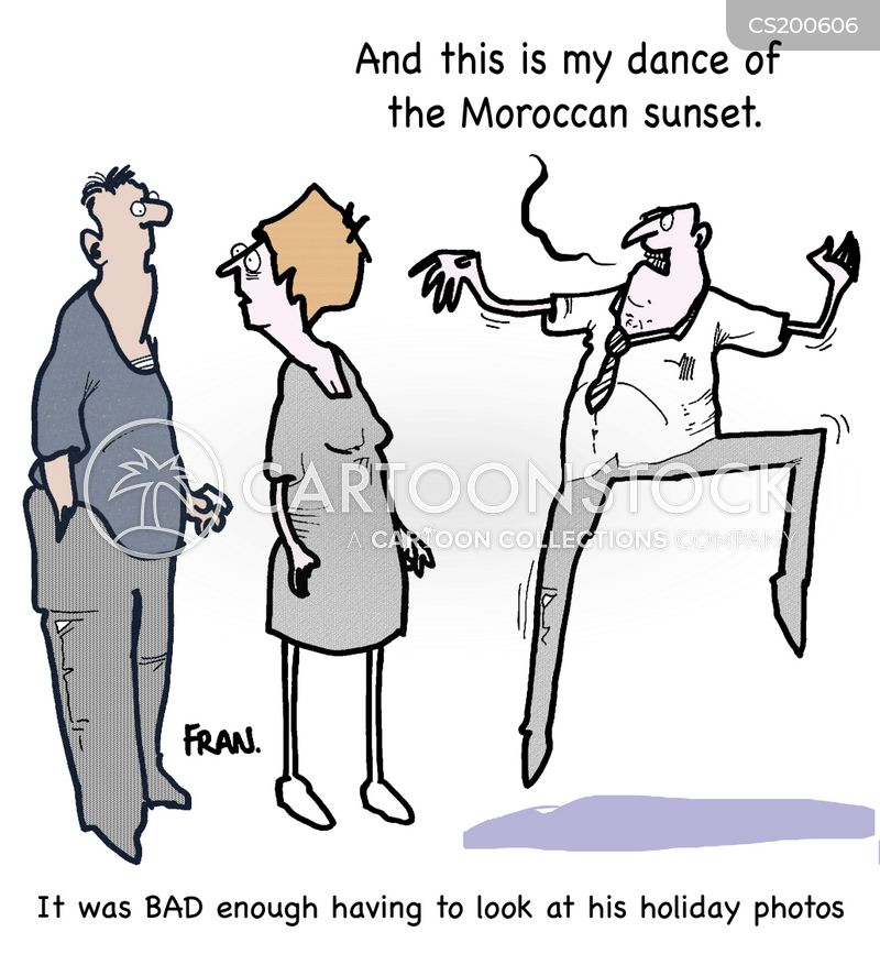 holiday photo cartoon