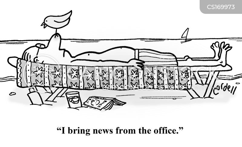 out of office cartoon