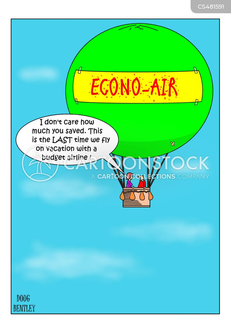 cheap flight cartoon