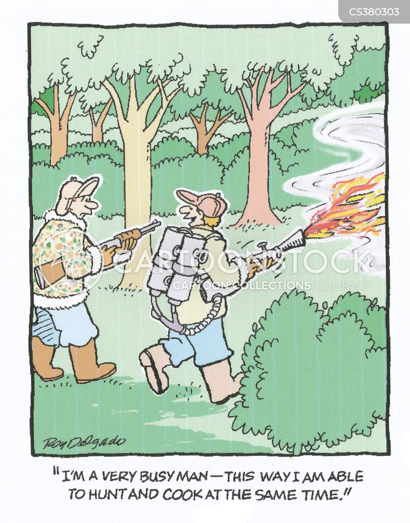 flamethrower cartoon