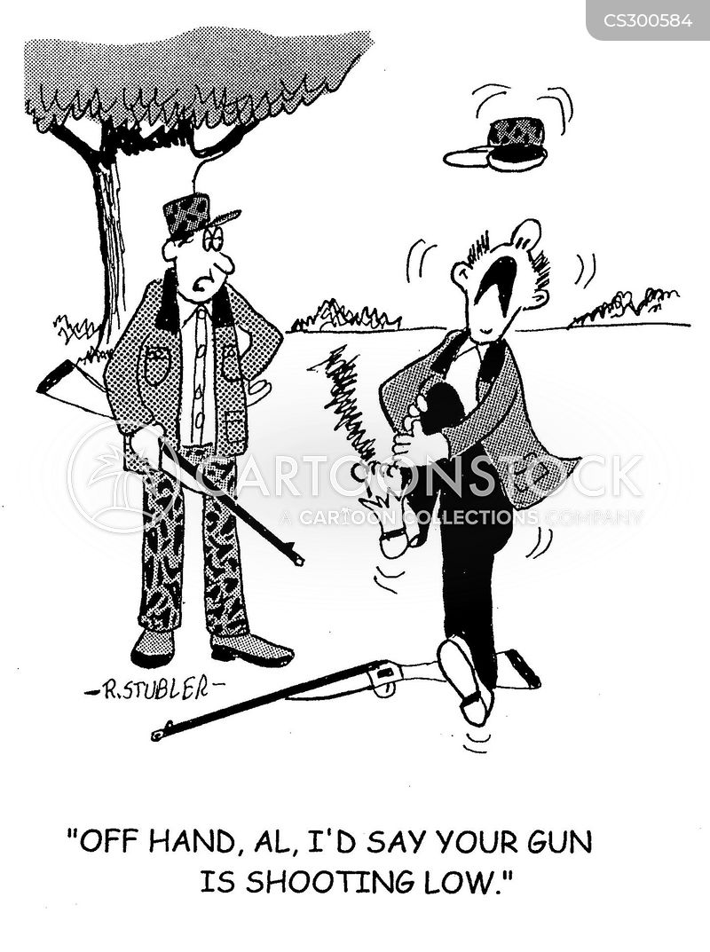 hunting rifle cartoon