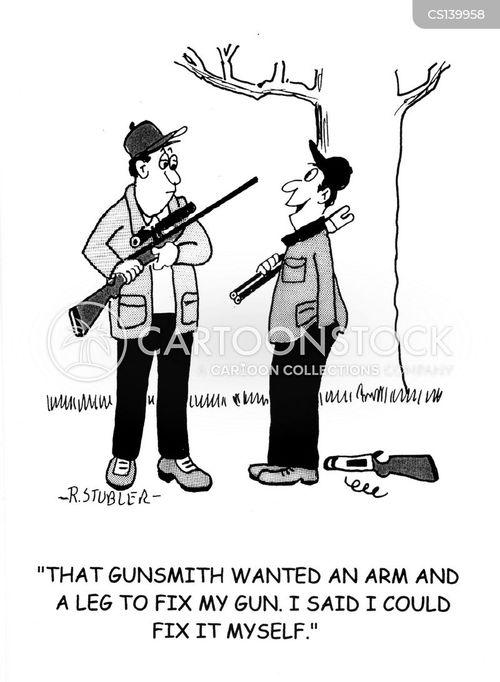 hunting gun cartoon