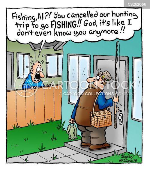 fishing equipment cartoon