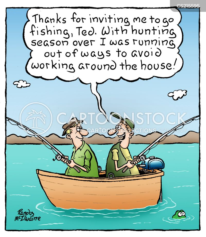 Working around the house cartoons and comics funny for Where can i buy a fishing license near me