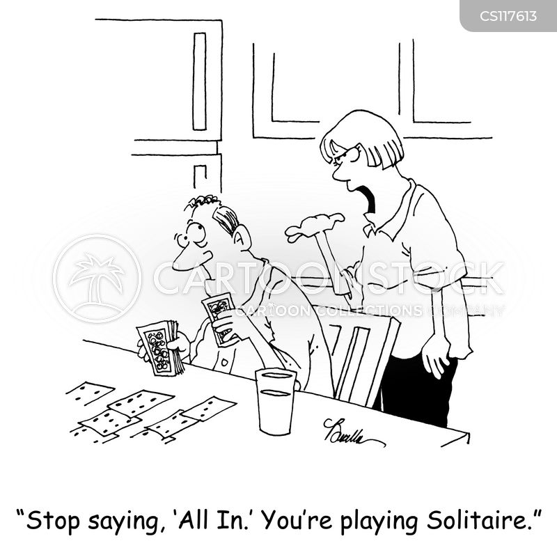 solitaire cartoon