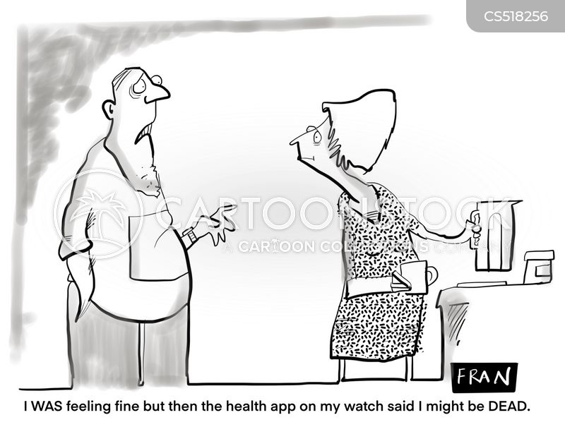 health apps cartoon