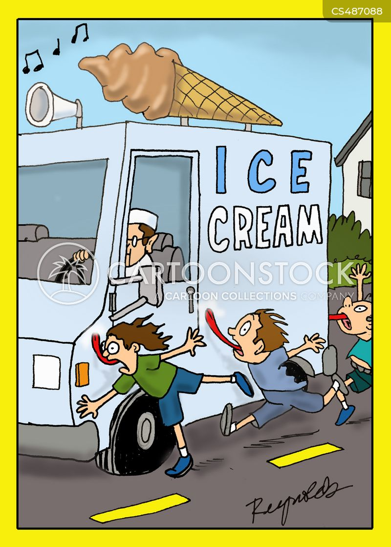 ice cream trucks cartoon