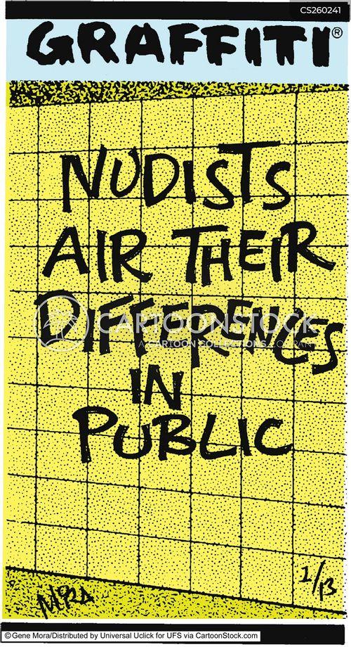 public naked cartoon