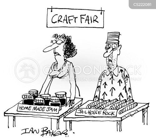 craft fairs cartoon