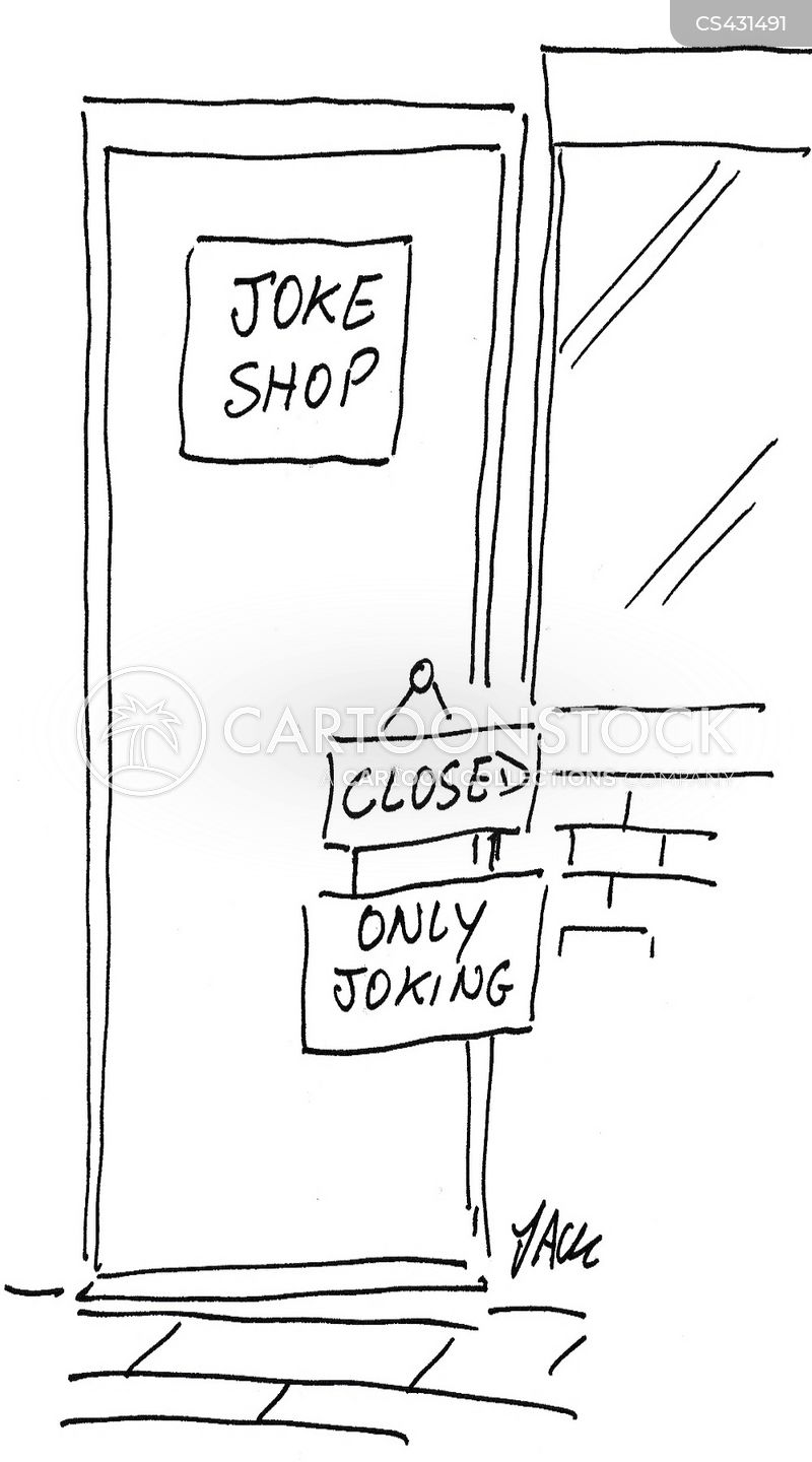 joke store cartoon