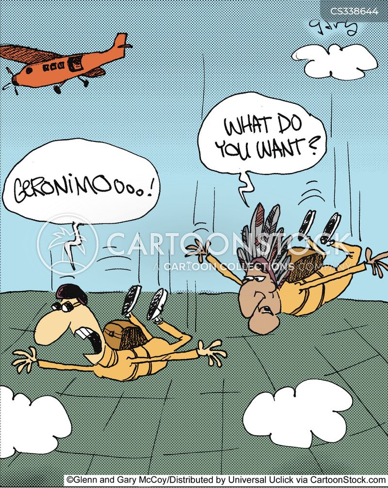 parachutist cartoon