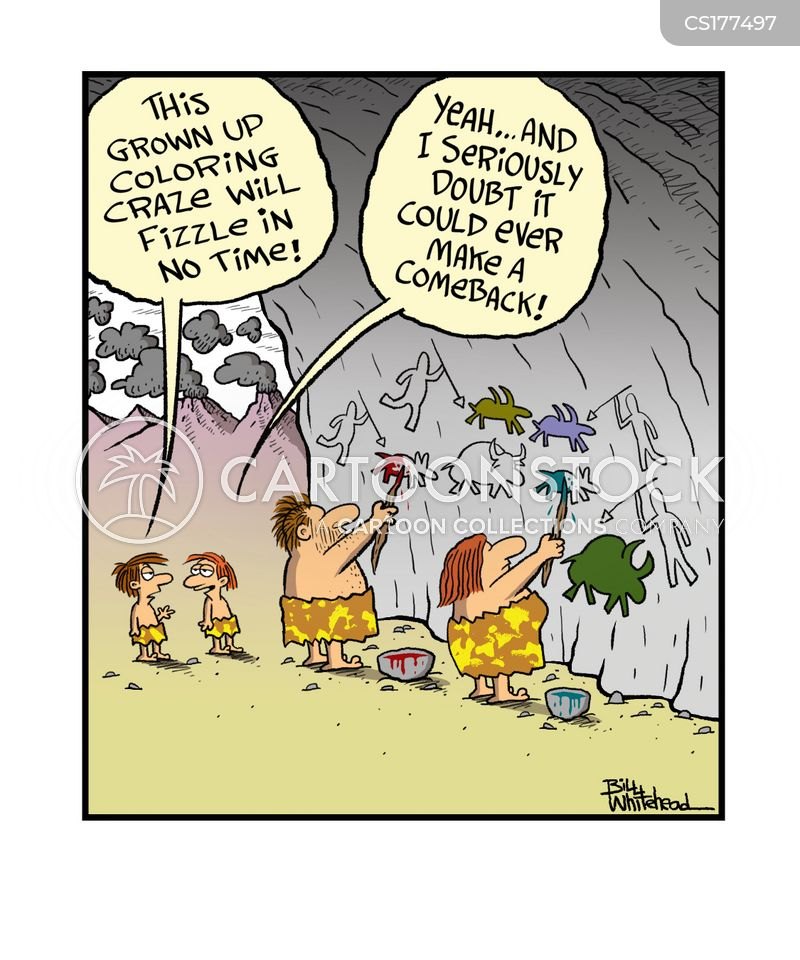 cave drawing cartoon