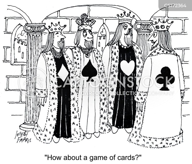 card deck cartoon