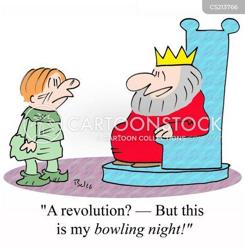 bowling night cartoon