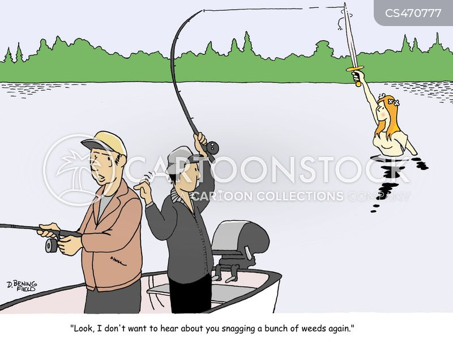 sport fishing cartoon