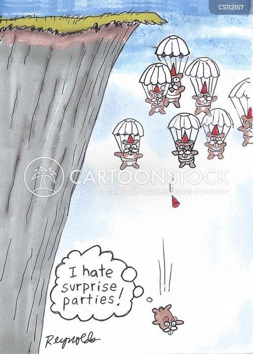 sky diver cartoon