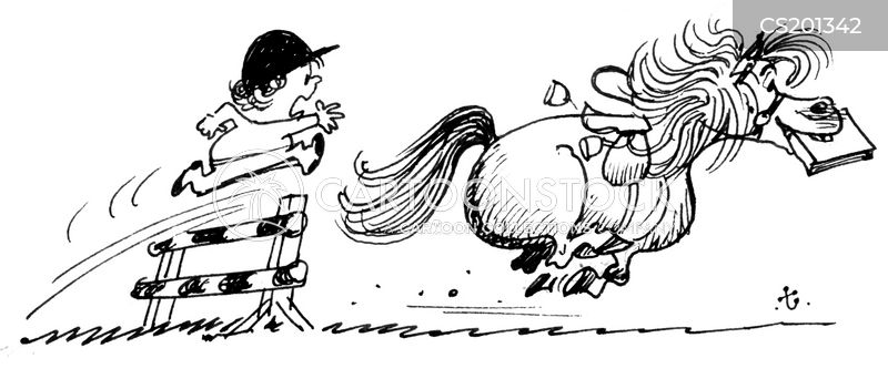 horse ride cartoon