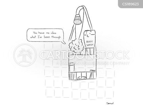 shower gels cartoon