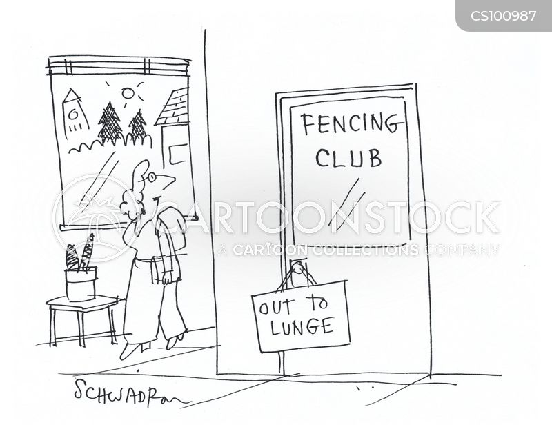 fencing cartoon