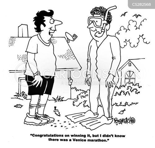 marathoning cartoon