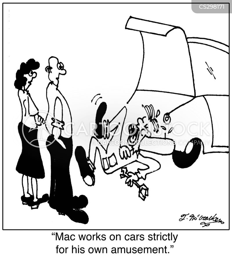 garage mechanics cartoon