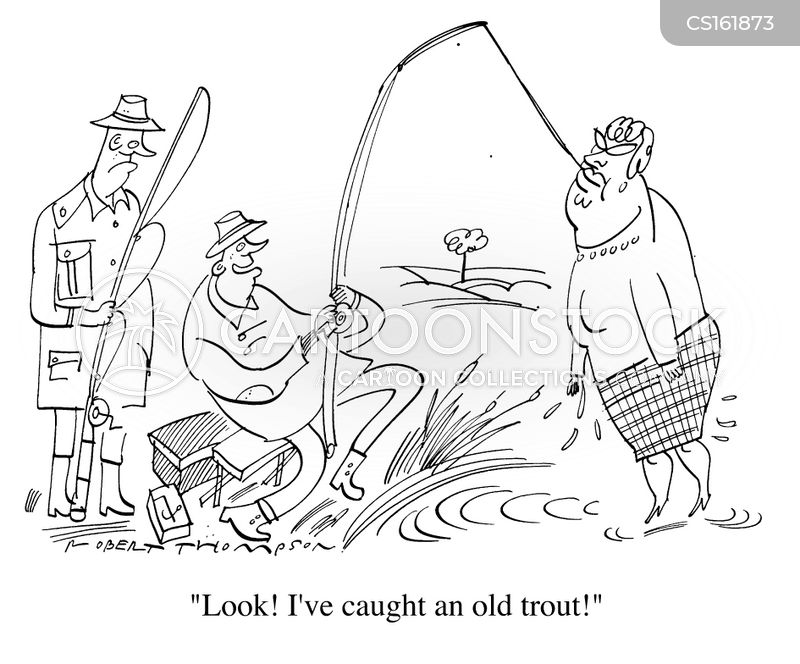 trout cartoon