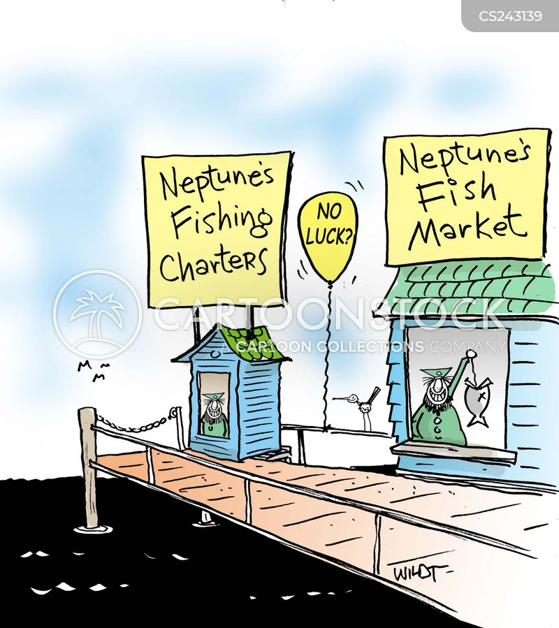 fishing charter cartoon