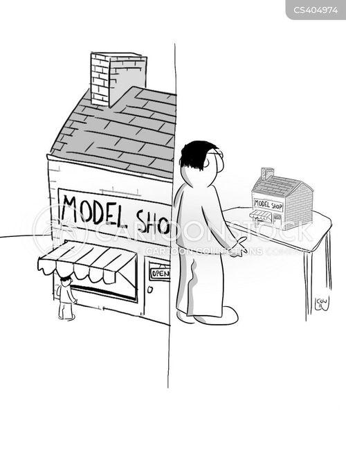 model builder cartoon