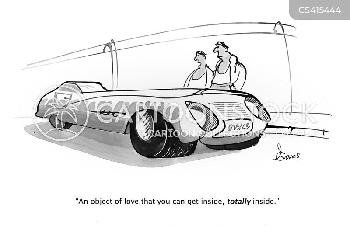 car enthusiast cartoon