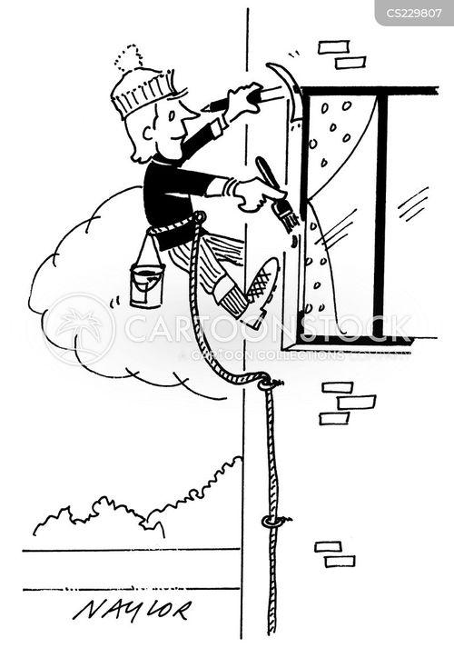 free climbers cartoon