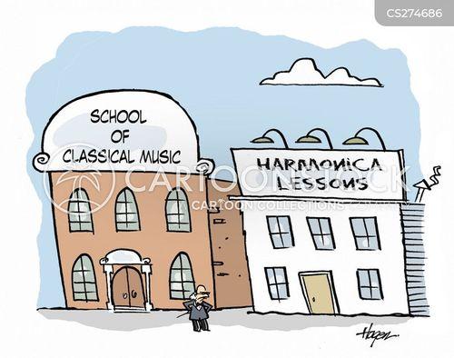 music school cartoon