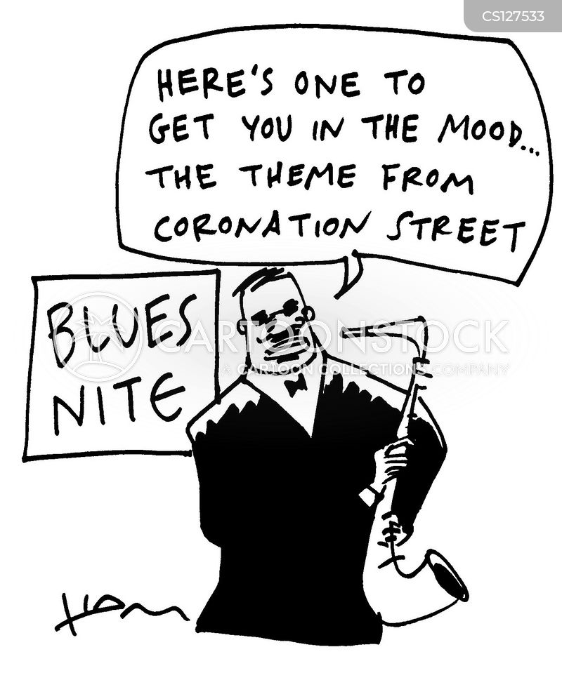 blues clubs cartoon