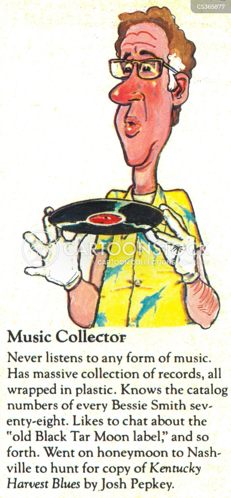 record collectors cartoon