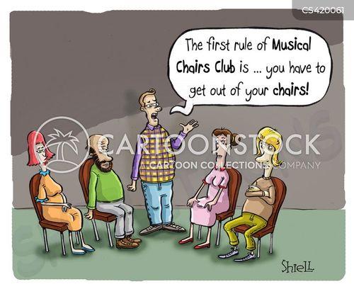 musical chair cartoon