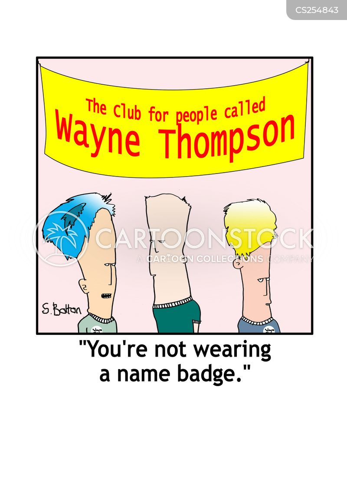 name badges cartoon