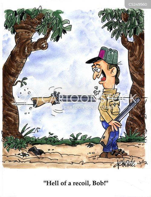 gun recoil cartoon