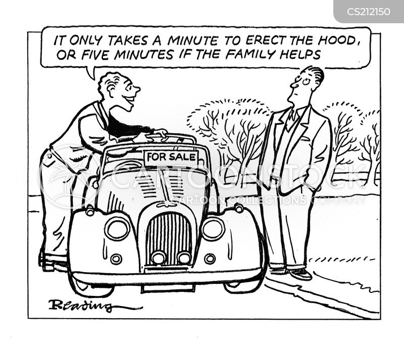 classic car cartoon