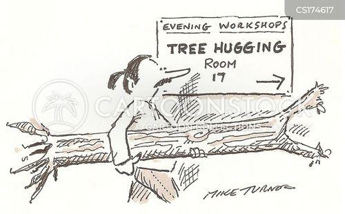 tree huggers cartoon