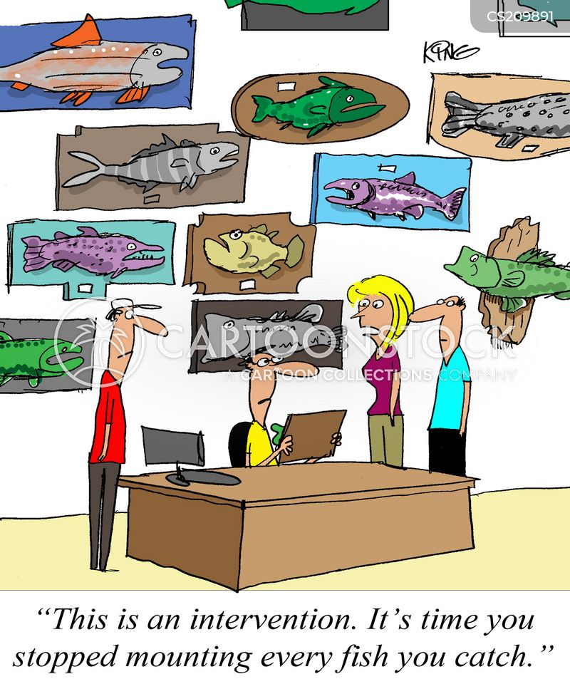 fishing trophies cartoon