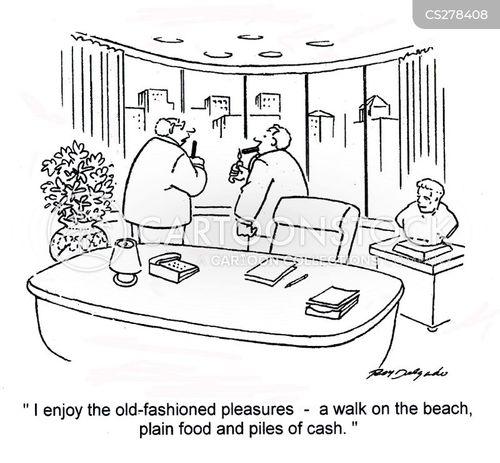 piles of money cartoon