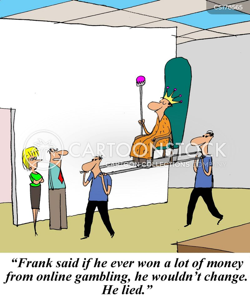 gambling online cartoon