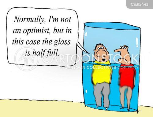 half-full cartoon