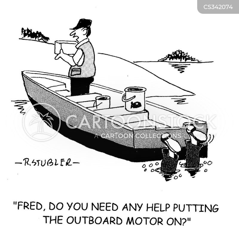 Outboard motor cartoons and comics funny pictures from for Boat motor repair shops