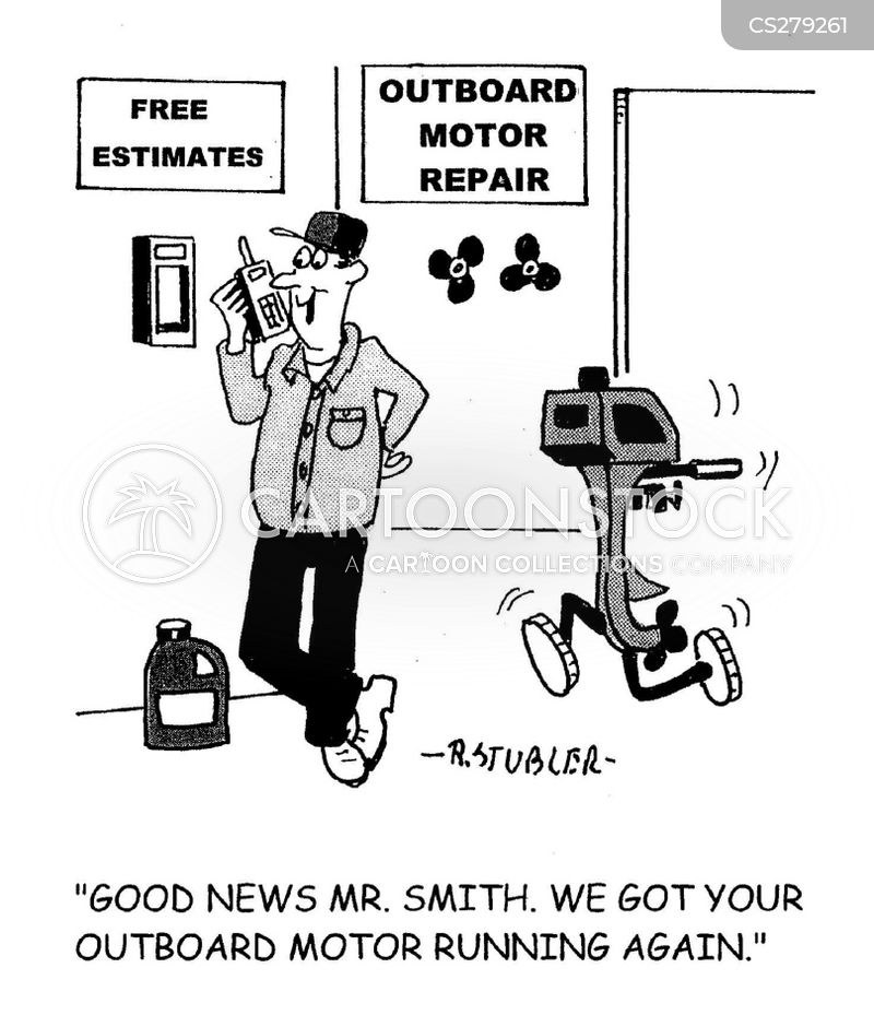 Outboard motors cartoons and comics funny pictures from for Boat motor repair shops
